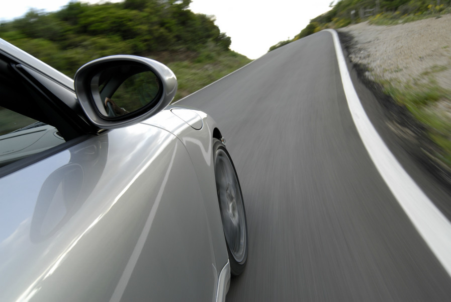 A Porsche in need of repair in Sammamish, WA